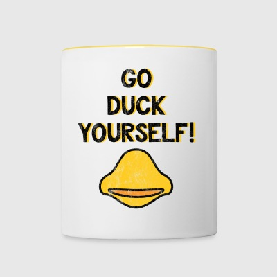 Go Duck Yourself - Lustiges T-Shirt - Tasse zweifarbig