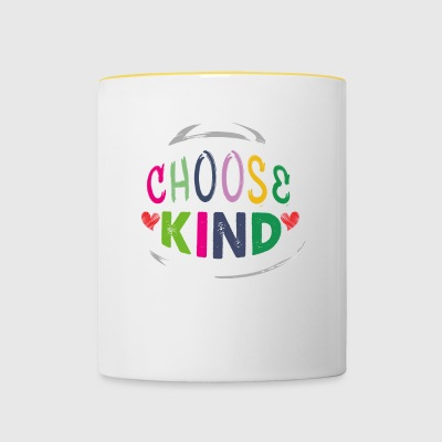Choose Kind Anti Bullying Helmet - Tvåfärgad mugg