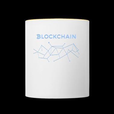 BLOCKCHAIN BITCOIN CRYPTOCURRENCY TECHNOLOGIE - Tasse zweifarbig