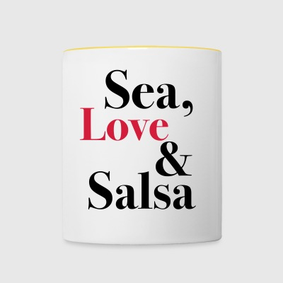Sea, Love & Salsa - Tasse bicolore