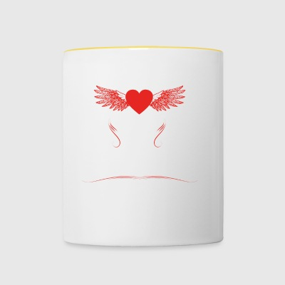 gift heart beats girlfriend skater - Contrasting Mug