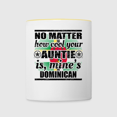 no matter auntie cool auntie gift Dominica png - Contrasting Mug