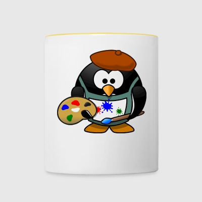 Penguin painter - Contrasting Mug