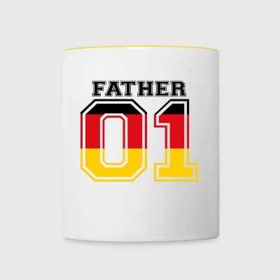 Father father papa 01 queen germany - Contrasting Mug