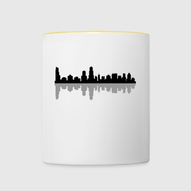 Chicago skyline - Kubek dwukolorowy