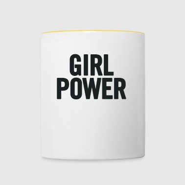 Girl Power Black - Tvåfärgad mugg