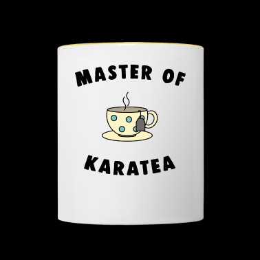 Master of tea karatea - Tasse zweifarbig