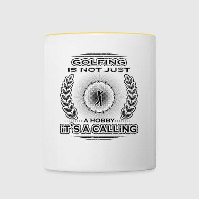 not a calling hobby job bestimmung golf sports gol - Taza en dos colores