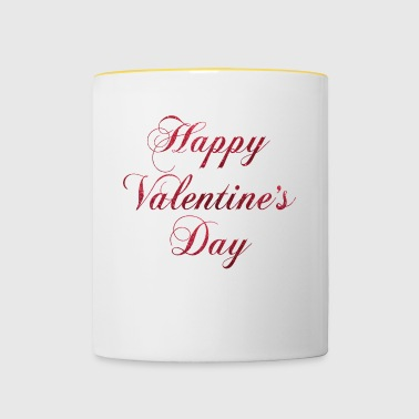 Happy Valentines Day - Tasse bicolore