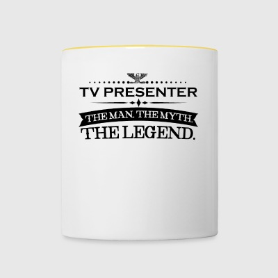 Man myth legend gift TV PRESENTER - Contrasting Mug