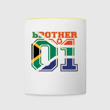king bruder brother 01 partner Suedafrika - Tasse zweifarbig