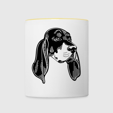 Black and Tan Coonhound - Dog - Contrasting Mug