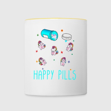 Happy Pills - Tasse zweifarbig