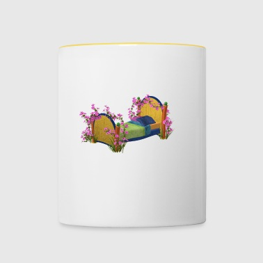 The bed in bloom - Contrasting Mug