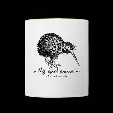 The kiwi is my animal totem. - Contrasting Mug