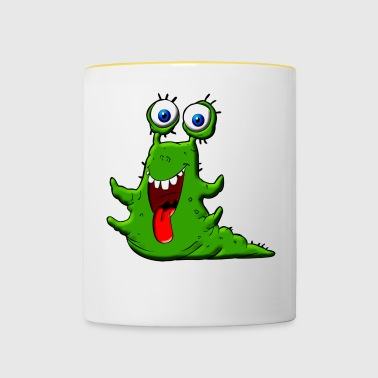 Happy Slime Green Monster - Contrasting Mug