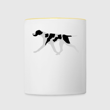 Pointer (Black and White) Trotting - Contrasting Mug