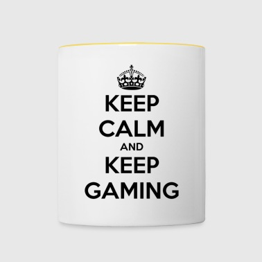 Keep Calm And Keep Gaming - Contrasting Mug