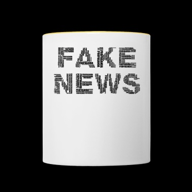 FAKE NEWS - Mok tweekleurig