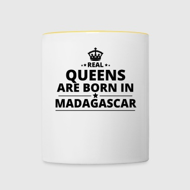 gift queens are born MADAGASCAR - Contrasting Mug