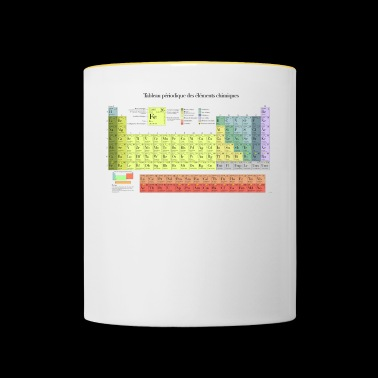 Periodic Table of Chemical Elements - Contrasting Mug