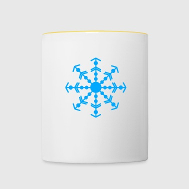 flocon de neige - Tasse bicolore