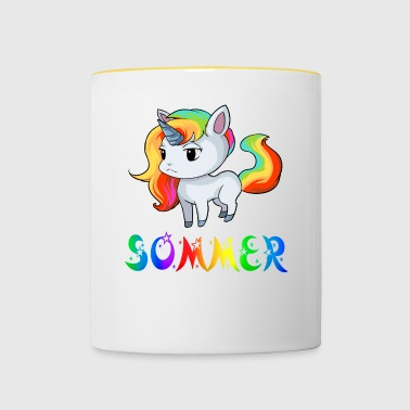 Unicorn summer - Contrasting Mug
