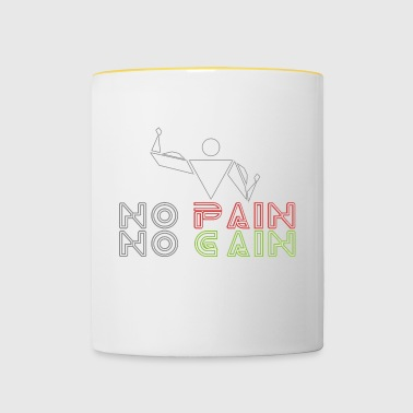 No pain no gain - Tazze bicolor