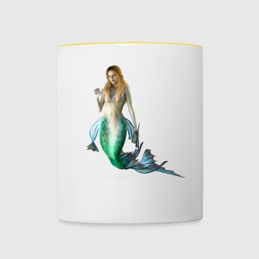Mermaid sexy naked woman as a gift idea - Contrasting Mug