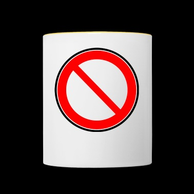 Interdiction Interdiction des signes - Mug contrasté
