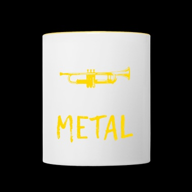 I PLAY HEAVY METAL - Tasse zweifarbig