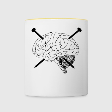 Brain nails pain - Contrasting Mug