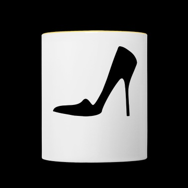 Stiletto Highheels - Tasse zweifarbig