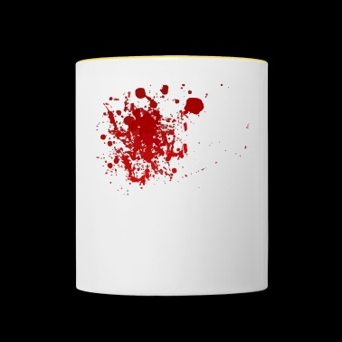 Blood splatter splatter Halloween blood spatter - Contrasting Mug