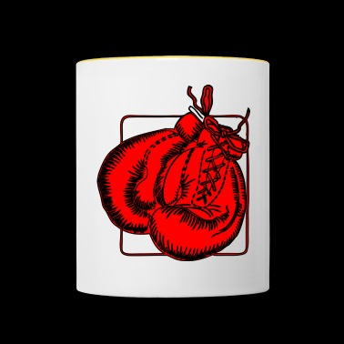 Red boxing gloves Boxing gloves - Contrasting Mug