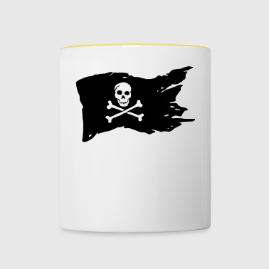 PIRATE FLAG Gift sea! - Contrasting Mug
