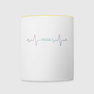 Music is my heartbeat - gift - Contrasting Mug