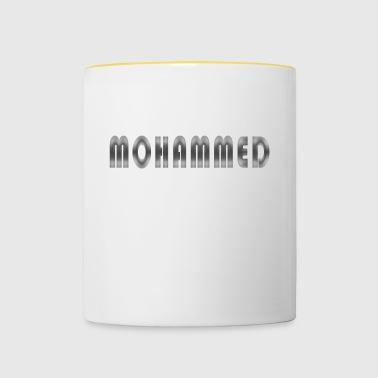 Name Mohammed name day gift man first name - Contrasting Mug