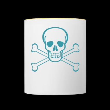 Skull in pirate flag Gift idea - Contrasting Mug