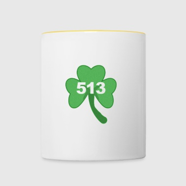 St Patricks Day Proud Irish Nurse Cincinnati 513 - Contrasting Mug