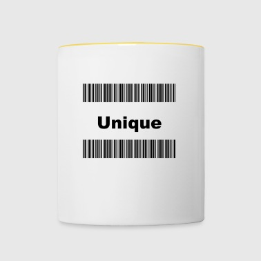 conception de codes à barres - Tasse bicolore
