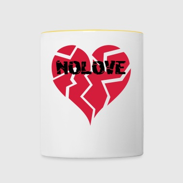 NO LOVE | Broken Heart - Tasse bicolore