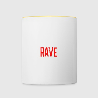 Eat Sleep rave repeat - Tasse zweifarbig