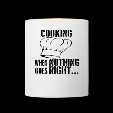If all goes wrong cook cook cook cook - Contrasting Mug