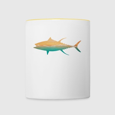 FISH motif design gift idea birthday style - Contrasting Mug