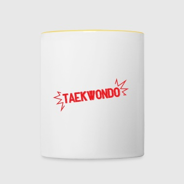Eat Sleep Taekwondo Repeat - Tasse zweifarbig