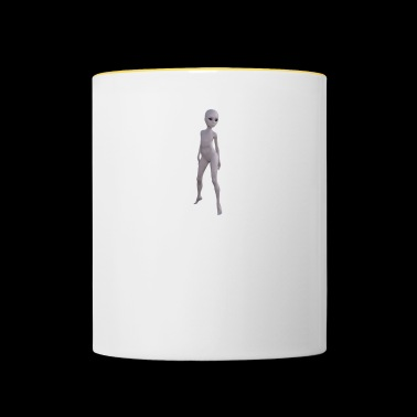 Alien naked woman - Contrasting Mug