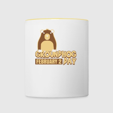 Groundhog Day February 2 Weatherman Ground-Hog - Contrasting Mug