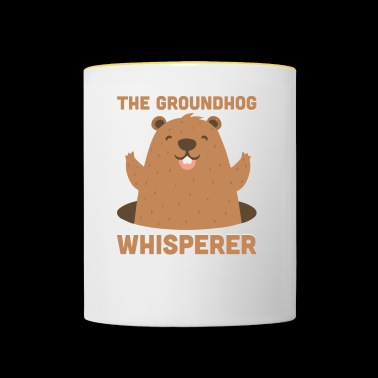 The Groundhog Whisperer Funny Ground-Hog - Contrasting Mug