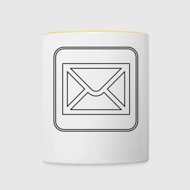 Letter icon - Contrasting Mug